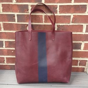 New Madewell Paint Stripe Transport Tote Bag